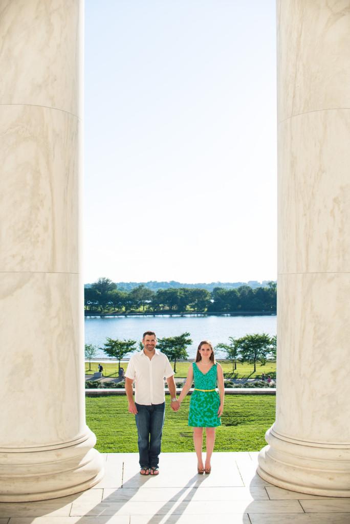 Engagement Session - Portrait Photographer - Jan Ziegler - Jefferson Memorial